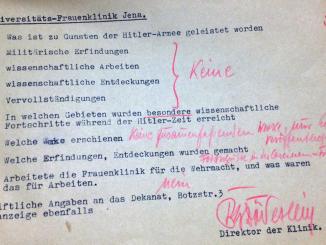 Abb. 1. Befragung von Prof. Doederlein, Universitaets-Frauenklinik Jena.