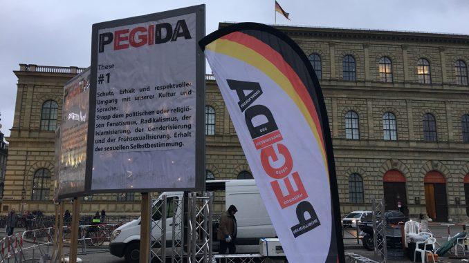 Pegida-Veranstaltung in München, Foto: Stefan Groß
