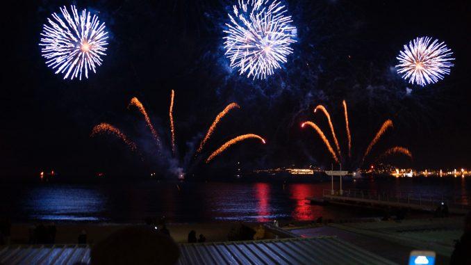 Silvesterfeuerwerk in Cannes, Foto: Stefan Groß