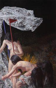 Black Snow, 2016, oil on canvas, 220 x 140 cm