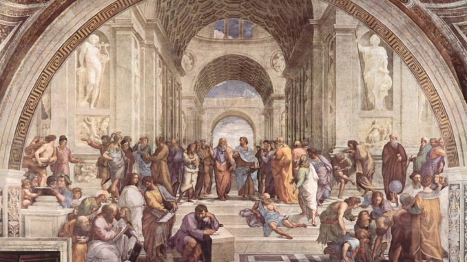kunst schule von athen raphaël italienischer maler, Quelle: janeb13, Pixabay License Freie kommerzielle Nutzung Kein Bildnachweis nötig